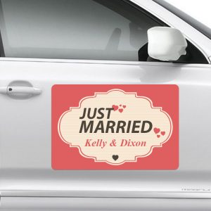 wedding car magnet