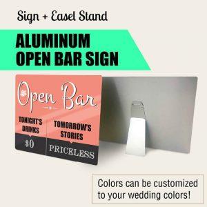 open-bar wedding sign