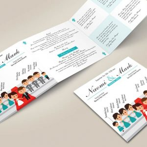 Cartoon style wedding program