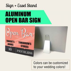 open-bar wedding sign